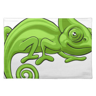 Chameleon Cartoon Character Placemat