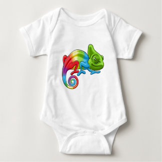 Chameleon Cartoon Rainbow Character Baby Bodysuit