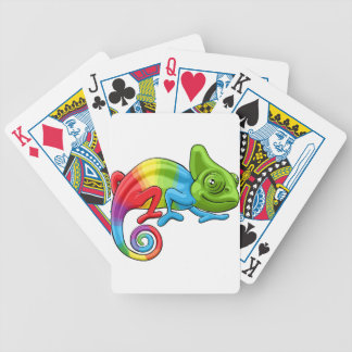 Chameleon Cartoon Rainbow Character Bicycle Playing Cards