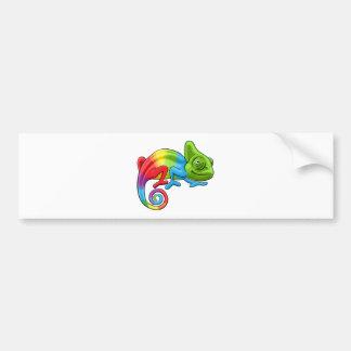 Chameleon Cartoon Rainbow Character Bumper Sticker