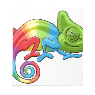 Chameleon Cartoon Rainbow Character Notepad