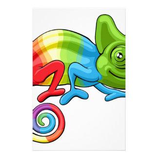 Chameleon Cartoon Rainbow Character Stationery