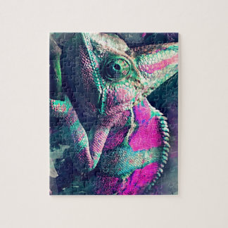 chameleon #chameleon jigsaw puzzle