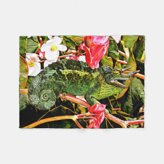 Chameleon Charisma Fleece Blanket