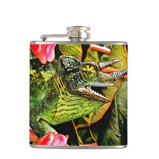 Chameleon Charisma Hip Flask