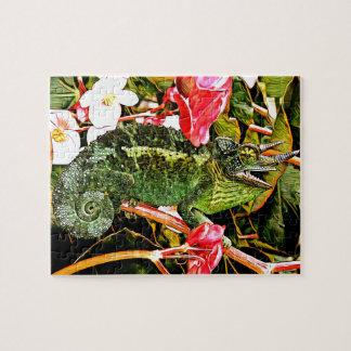 Chameleon Charisma Jigsaw Puzzle