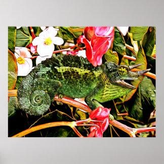 Chameleon Charisma Poster