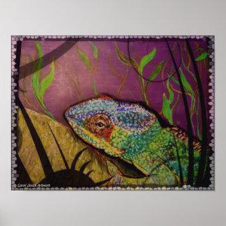 Chameleon from original artwork poster