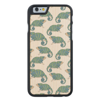 Chameleon Pattern Carved® Maple iPhone 6 Case