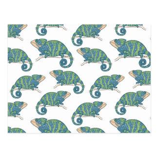 Chameleon Pattern Postcard