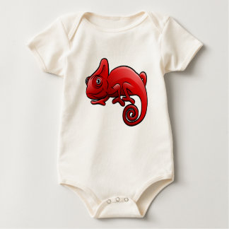 Chameleon Safari Animals Cartoon Character Baby Bodysuit