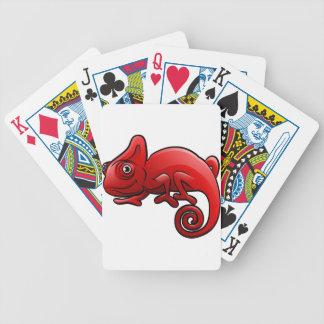 Chameleon Safari Animals Cartoon Character Bicycle Playing Cards