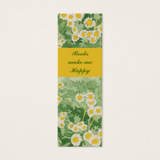 Book marker business cards business card printing zazzle chamomiles daisies 1quot x 3quot mini book marker mini business card reheart Choice Image