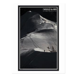 Chamonix - Aiguille du Midi Arete Solo Postcard