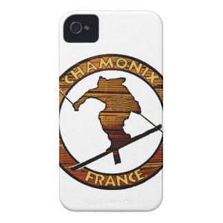 Chamonix France rustic wood skier design iPhone 4 Cover