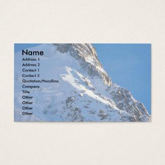 Chamonix from Aiguille de Midi, Mont Blanc, France Business Card