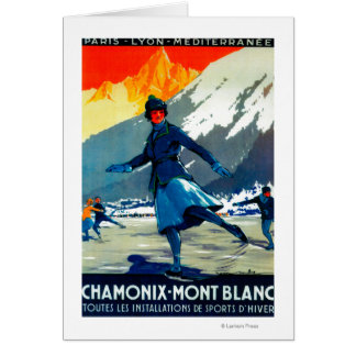 Chamonix-Mont Blanc Vintage PosterEurope Card