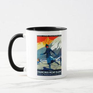 Chamonix-Mont Blanc Vintage PosterEurope Mug