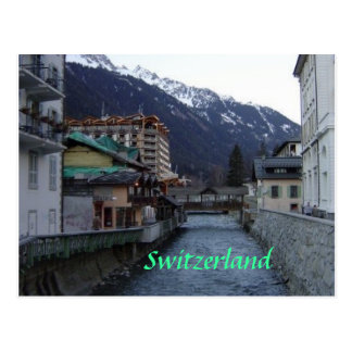Chamonix Village Postcard