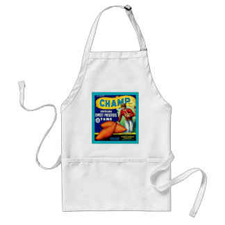 Champ Brand Yams ~ Vintage Vegetable Crate Apron