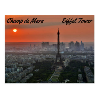 Champ de Mars, Eiffel Tower Postcard