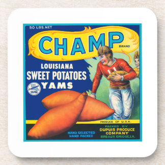 Champ Fruit Crate Label Drink Coasters
