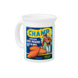 Champ Vintage Fruit Crate Label Beverage Pitchers