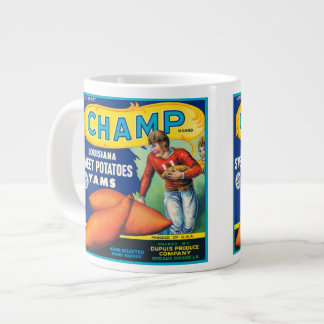 Champ Vintage Fruit Crate Label Jumbo Mug