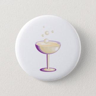 Champagne 6 Cm Round Badge