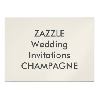 "CHAMPAGNE 7"" x 5"" Wedding Invitations"
