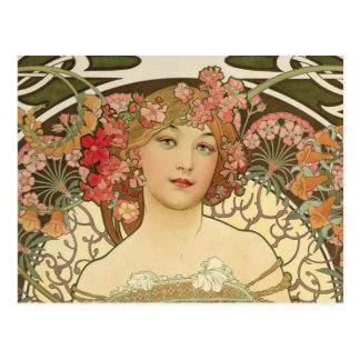 Champagne Alphonse Mucha Postcard