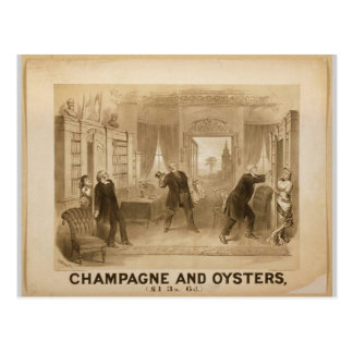 Champagne and Oysters Vintage Theater Post Cards