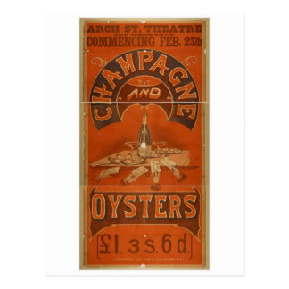 Champagne and Oysters Vintage Theater Postcards