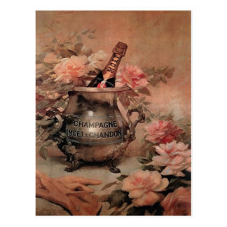 Champagne and Roses Postcard