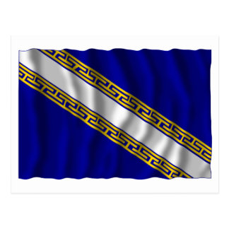 Champagne-Ardenne waving flag Post Card