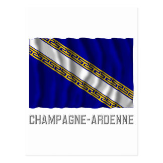 Champagne-Ardenne waving flag with name Post Card