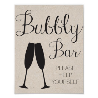 Champagne Bar Wedding Sign