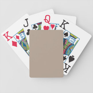 Champagne Beige Bicycle Playing Cards