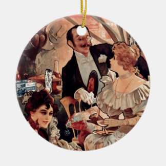Champagne Biscuits 1896 Ceramic Ornament