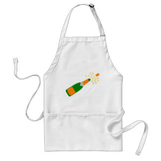 Champagne Bottle and Popping Cork Apron