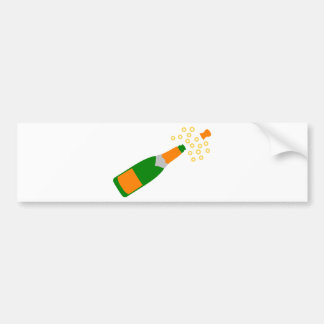 Champagne Bottle and Popping Cork Bumper Sticker