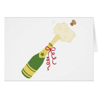 Champagne Bottle Card