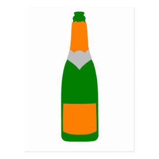 Champagne bottle postcard