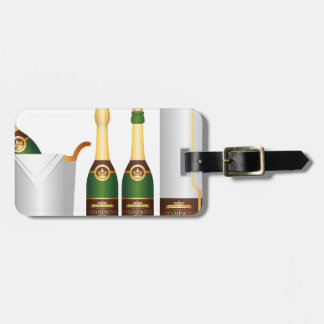champagne bottles luggage tag