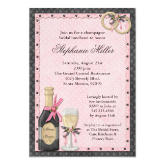 Champagne Bridal Shower Invitation