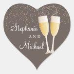 Champagne & Bubbles Celebration Couple Sticker