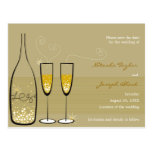 Champagne Bubbles Celebration Save The Date