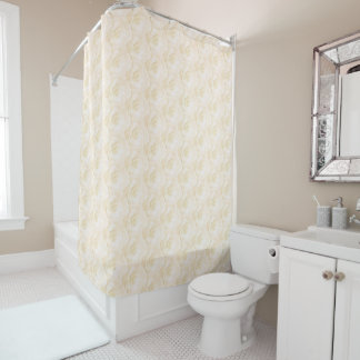 Champagne Coloured Roses Shower Curtain