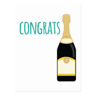 champagne congrats postcard