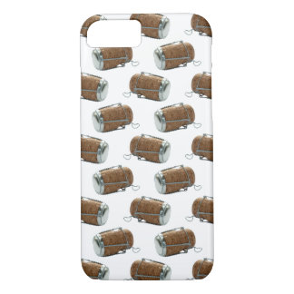 Champagne Cork Polka Dot Pattern iPhone Case